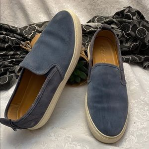 Coach - Blue Suede Loafers